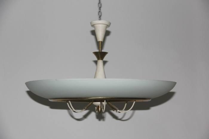 Lampada da soffitto vintage in vetro di Stilnovo in vendita su Pamono
