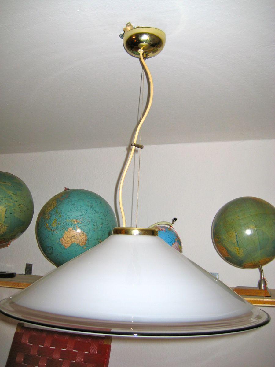 Modernistische Italienische Deckenlampe von Murano