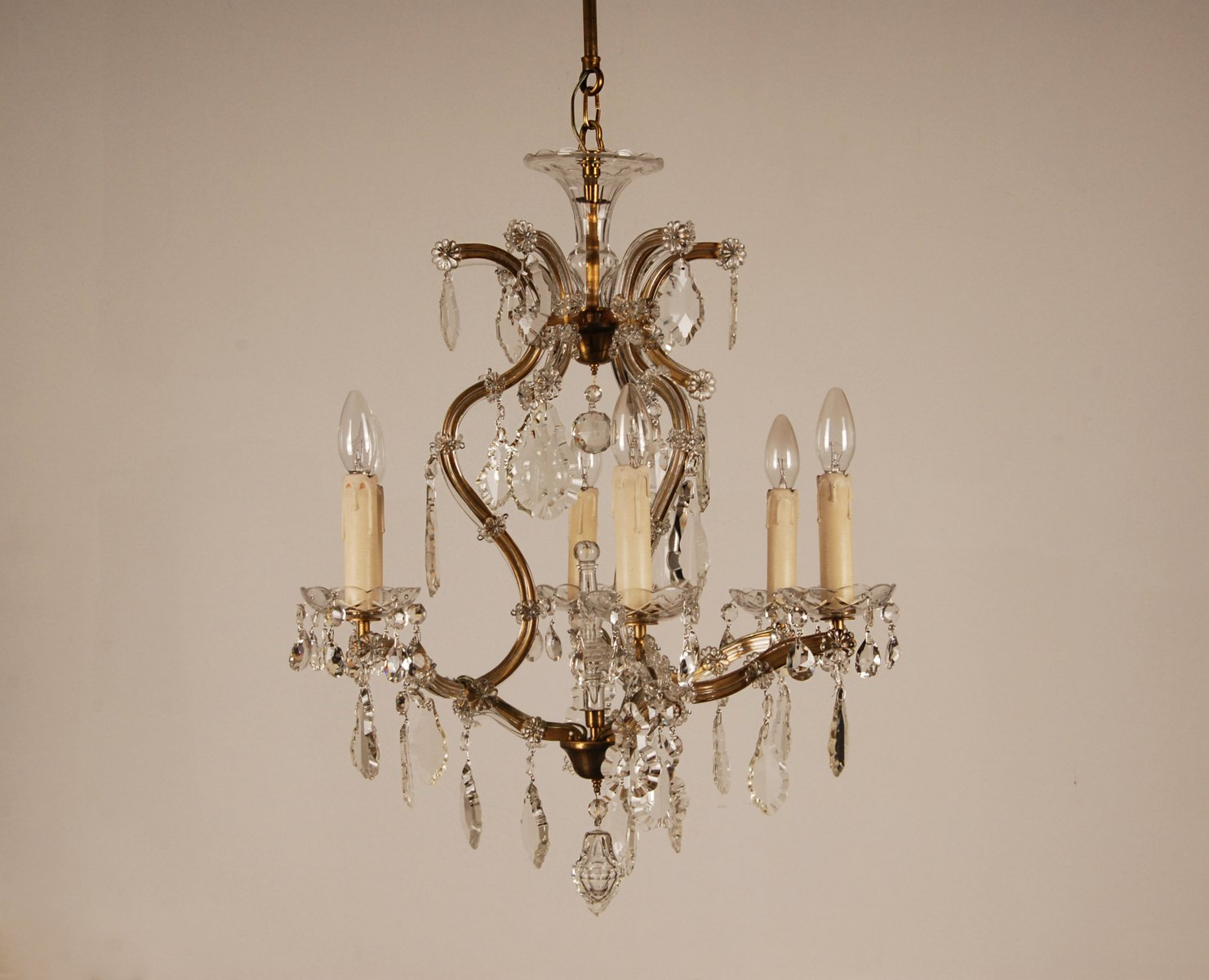 1940s French Porcelain Chandelier