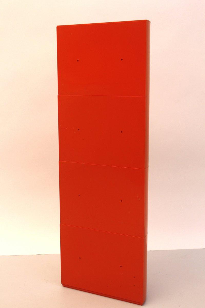 orangefarbener depositato kunststoff schrank von giorgina castiglioni f r bilumen bei pamono kaufen. Black Bedroom Furniture Sets. Home Design Ideas