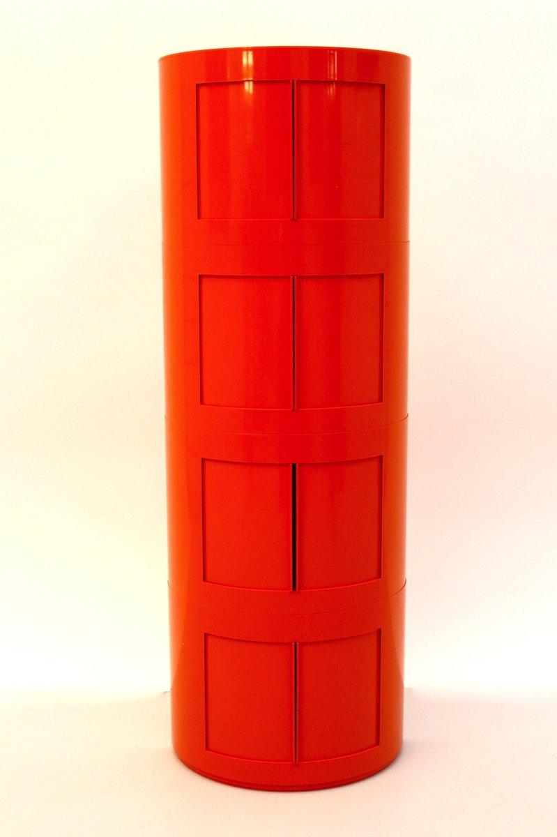 Orangefarbener Depositato Kunststoff Schrank vo...