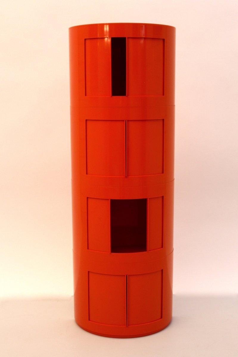 meuble de rangement depositato en plastique orange par giorgina castiglioni pour bilumen en. Black Bedroom Furniture Sets. Home Design Ideas