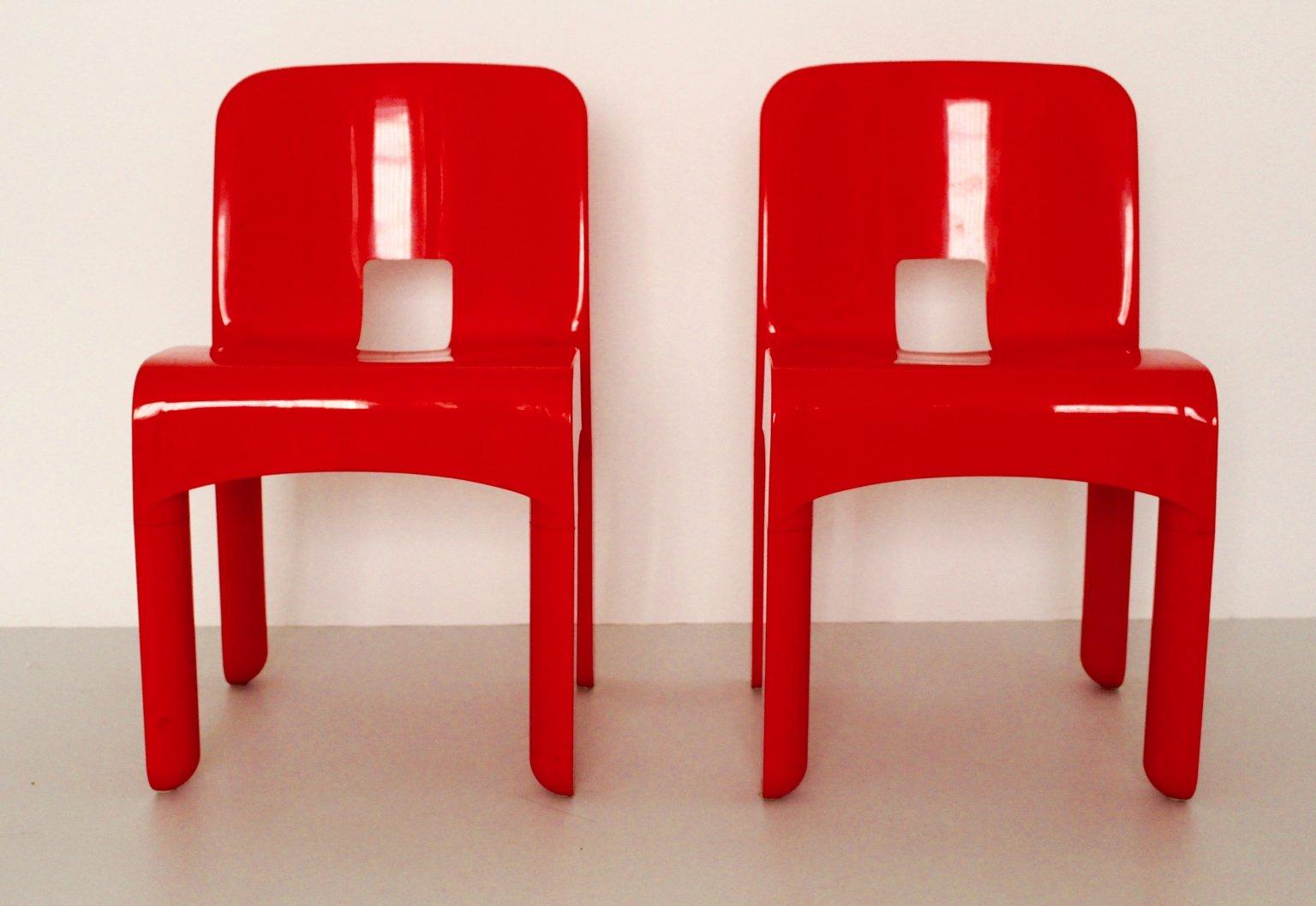 Arredo Ufficio Kartell : Sedie universale modello 4860 in plastica di joe colombo per kartell