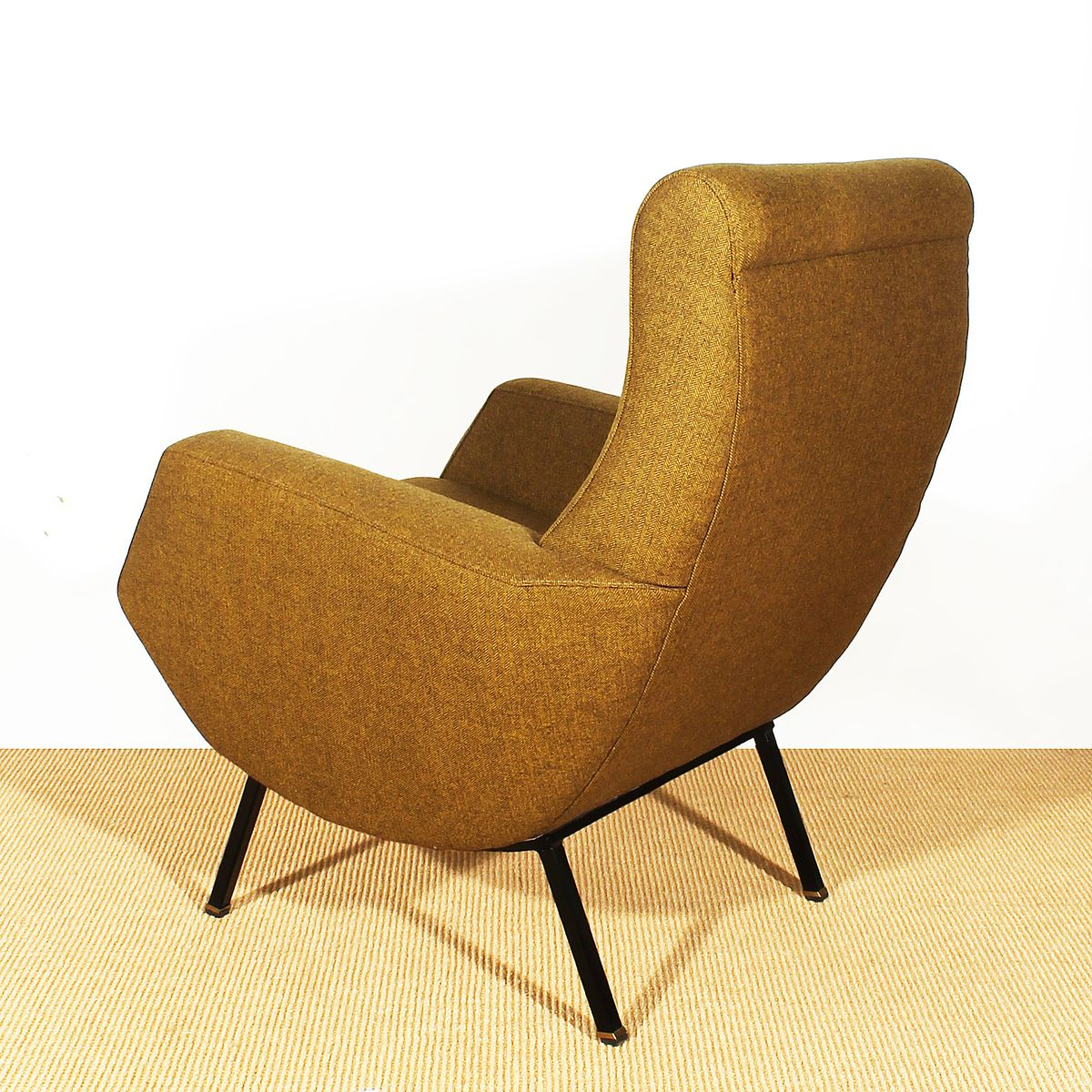 Italienische Senffarbene Sessel 1960er 2er Set Bei
