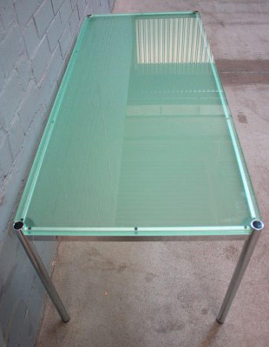 tisch mit glasplatte von fritz haller paul sch rer f r usm haller bei pamono kaufen. Black Bedroom Furniture Sets. Home Design Ideas