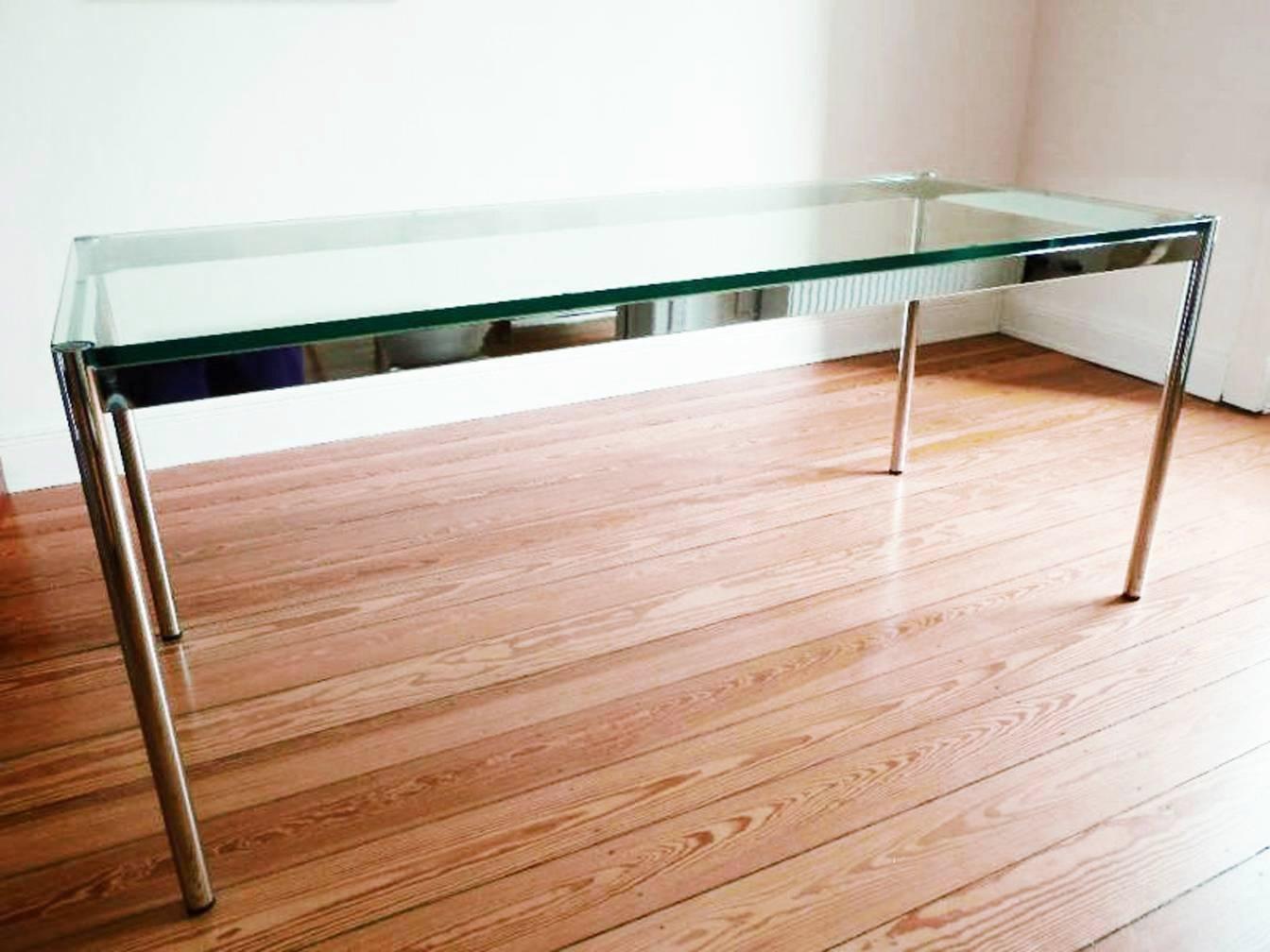 glass table by fritz haller paul sch rer for usm haller for sale at pamono. Black Bedroom Furniture Sets. Home Design Ideas
