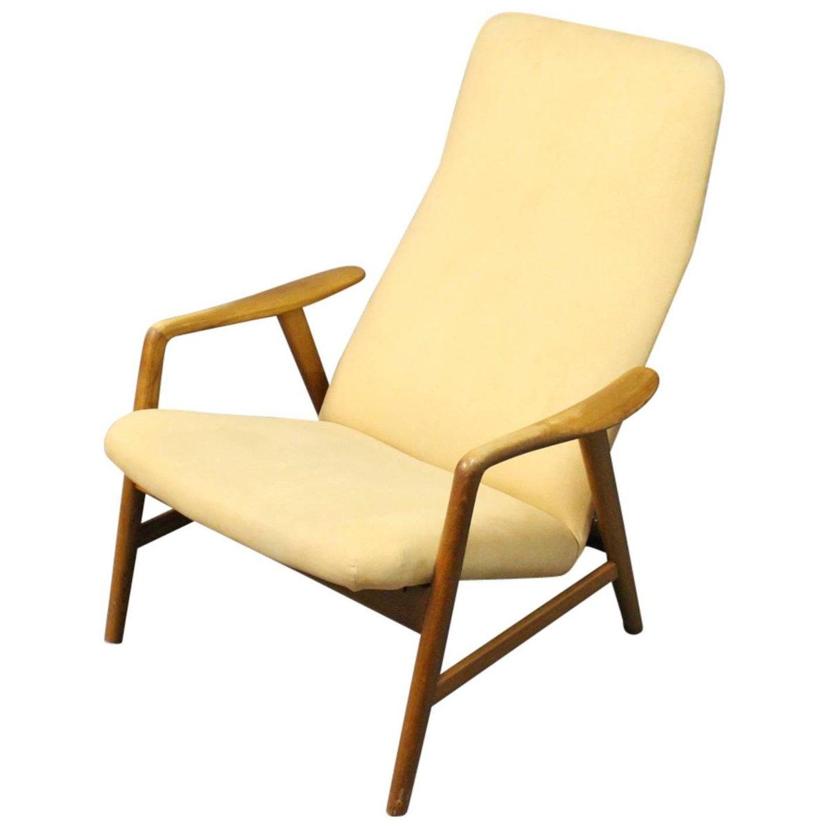 Lounge Liegestuhl mit Hoher Rückenlehne von Alf Svensson für Fritz Han...