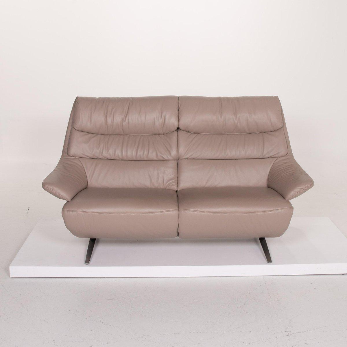 Himolla 12 Beige Leather Sofa