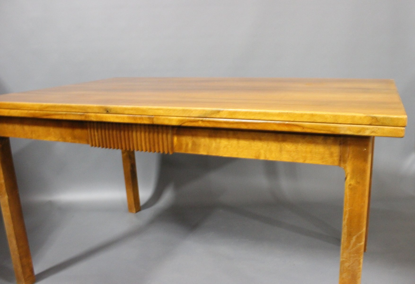 Extendable Danish Walnut Dining Table 1940s For Sale At