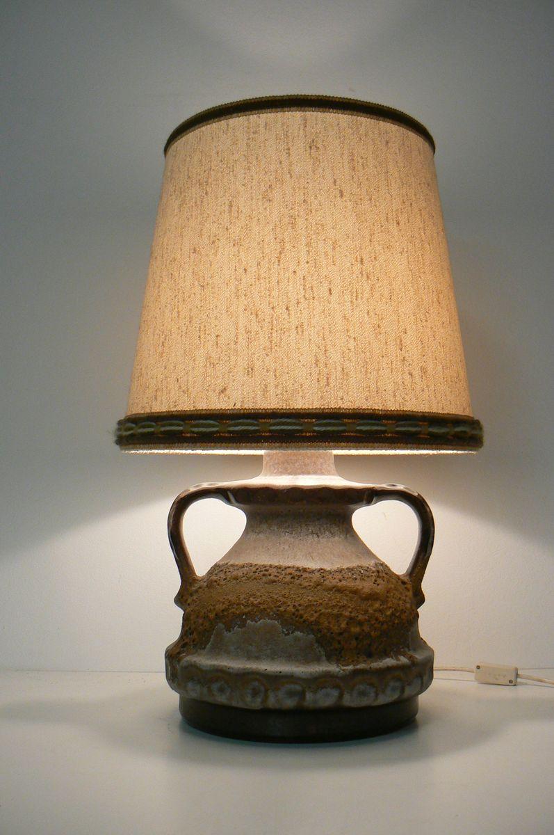 Lava Keramik Tischlampe von Kaiser Idell, 1970er