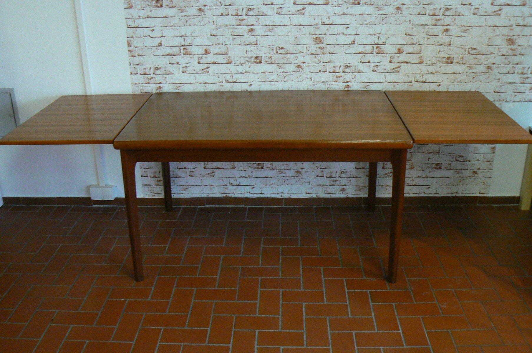 table de salle manger vintage rallonge par henning kjaernulf pour am denmark en vente sur pamono. Black Bedroom Furniture Sets. Home Design Ideas