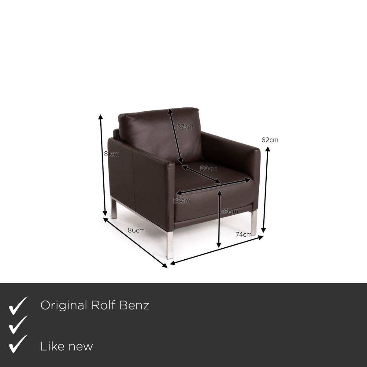 Cara Leather Armchair By Rolf Benz For Sale At Pamono