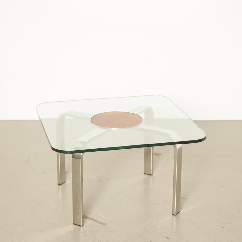 Square Glass Coffee Table For Sale At Pamono [ 1000 x 1000 Pixel ]
