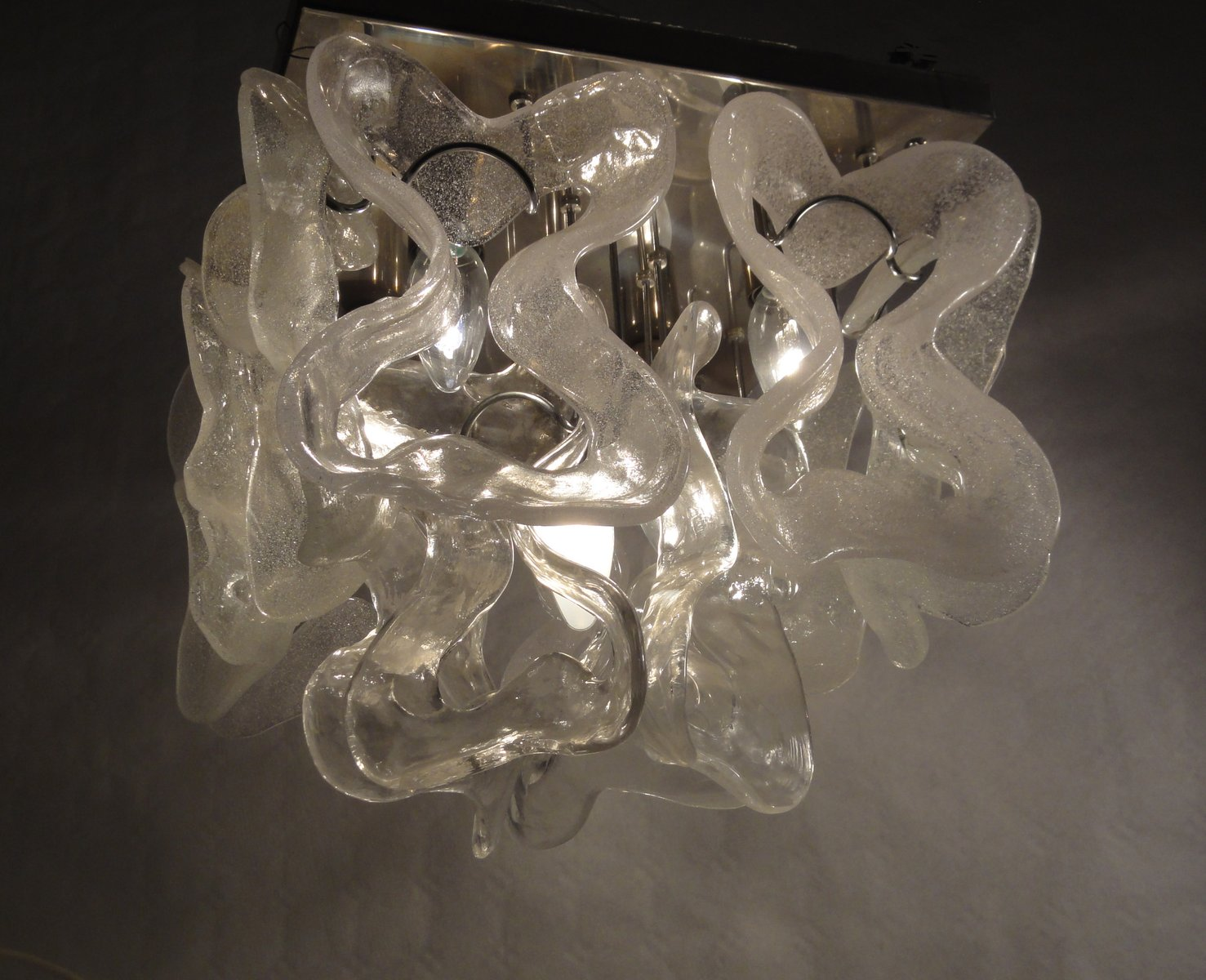 Deckenlampe aus Muranoglas, 1970