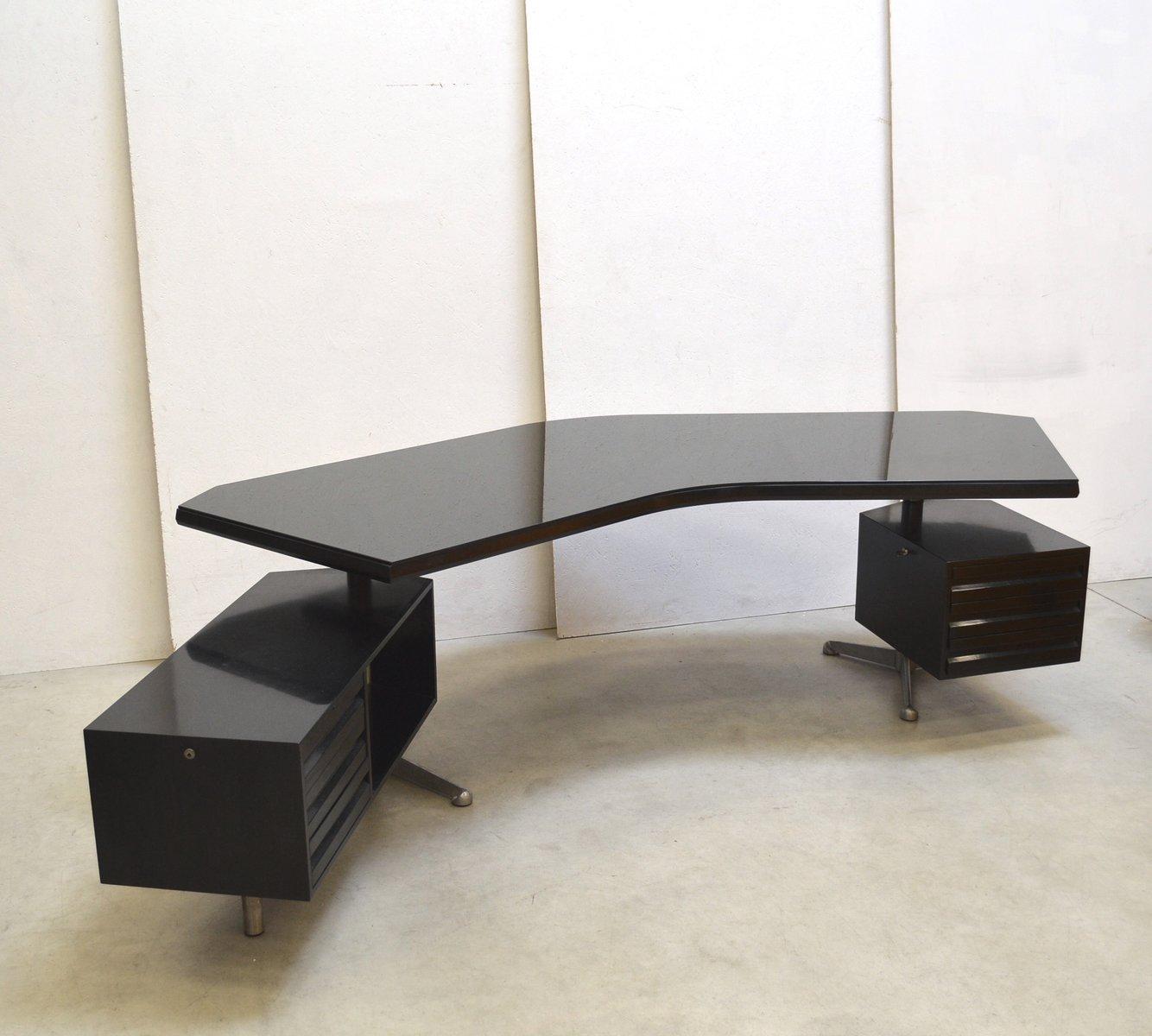 Italian Mahogany T96 Boomerang Desk By Osvaldo Borsani For Tecno 1970s For Sale At Pamono