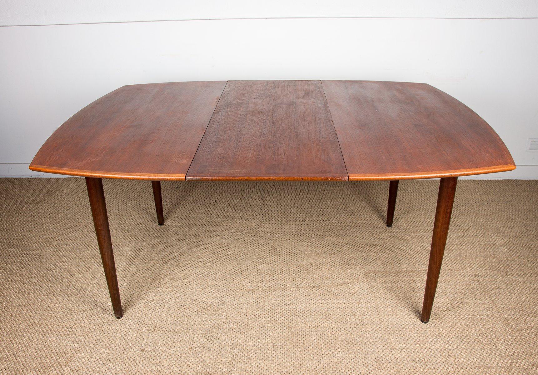Tavolo Da Pranzo Grande Quadrato Allungabile In Teak Di Hw Klein Danimarca Anni 60 In Vendita Su Pamono