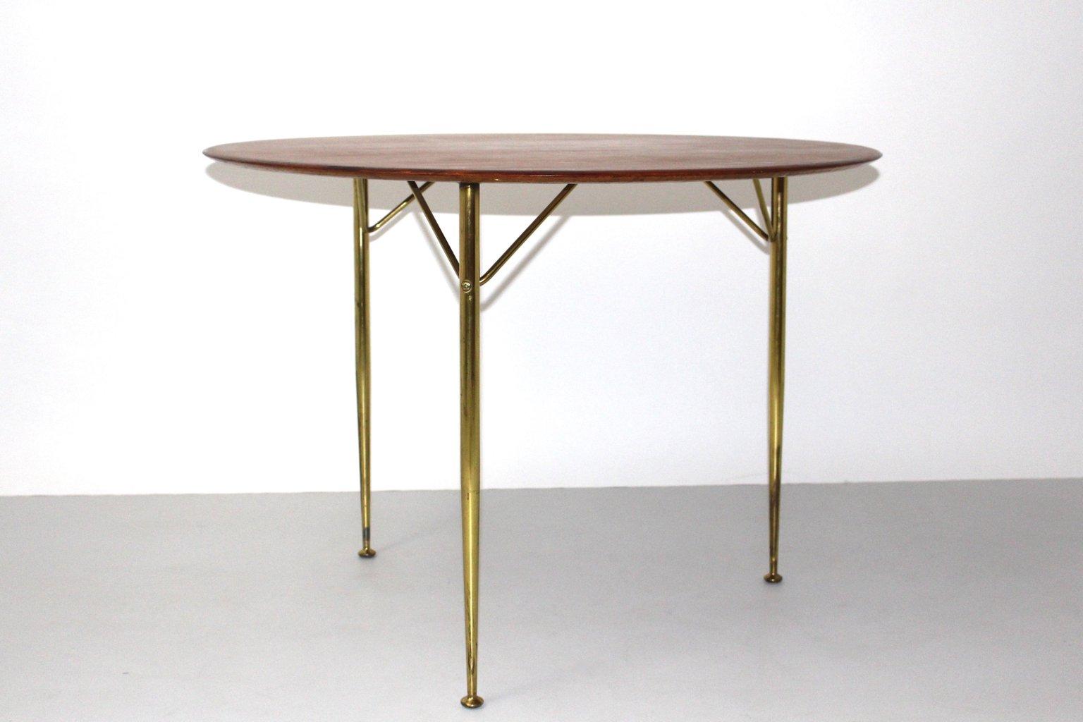 d nischer tisch mit dreifu von arne jacobsen f r fritz hansen 1950er bei pamono kaufen. Black Bedroom Furniture Sets. Home Design Ideas