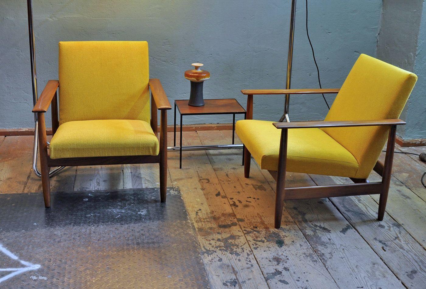 Sessel aus Teakholz von Ingmar Relling für Svane Möbler, 1960er, 2er S...