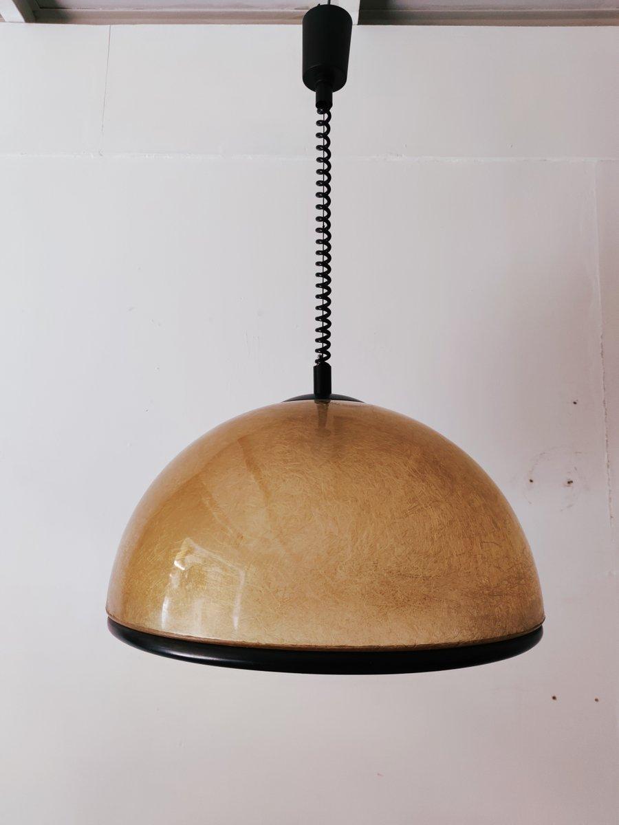 Lampada Da Soffitto Dome Vintage In Fibra Di Vetro Di Studio Tecno Design Per Luci Italia In Vendita Su Pamono