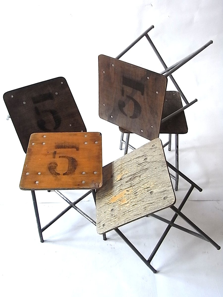 tabouret vintage industriel belgique 1960s en vente sur pamono. Black Bedroom Furniture Sets. Home Design Ideas