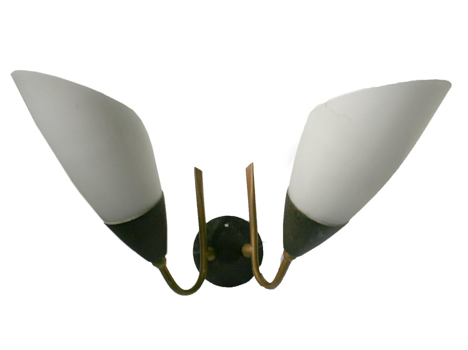 Französische Wandlampe, 1950er