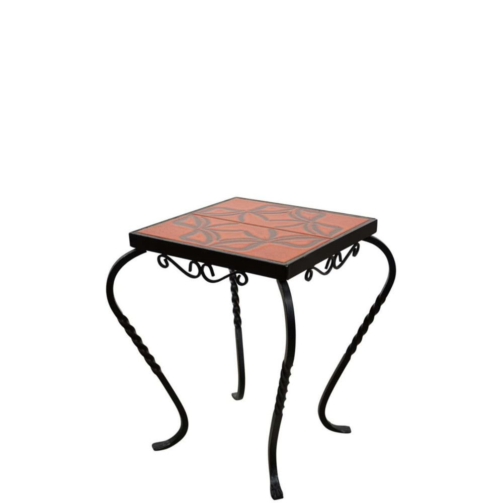 Ceramic And Wrought Iron Side Table Or End Table 1950s For Sale At Pamono