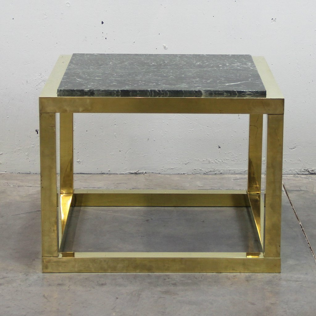 Marble Coffee Table Ireland: Vintage Spanish Brass And Green Veined Marble Coffee Table