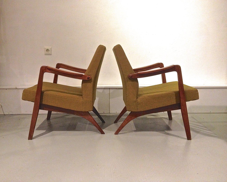 Belgische Easy Chairs von Jos de Mey für Van den Berghe Pauvers, 1955,...