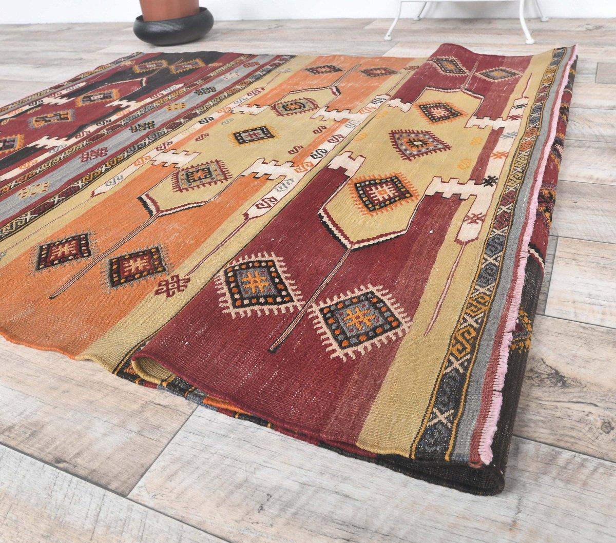 1.6 x 3.7 feet free shipping vintage rug Oriental unique turkish vintage small kilim rug grey color ethnic  vintage turkish kilim rug