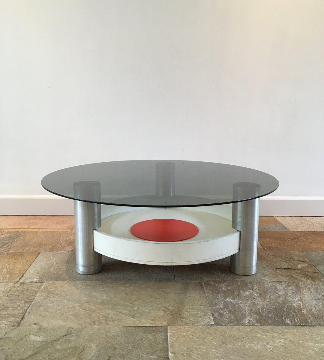 Umstead Oval Engineered Wood Coffee Table: Vintage Industrial Space Age Coffee Table For Sale At Pamono
