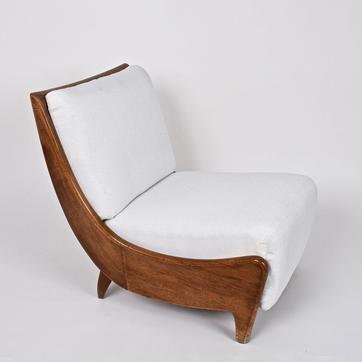 Italienische holz sessel 1930er 2er set bei pamono kaufen for Sessel italienisches design