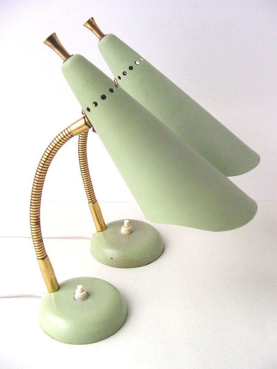 Gebogene Mid-Century Tischlampe