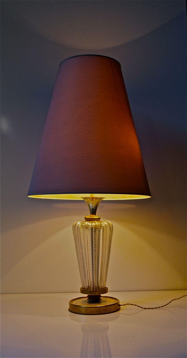 tischlampe mit bronze und blattgold von genet michon 1950er bei pamono kaufen. Black Bedroom Furniture Sets. Home Design Ideas