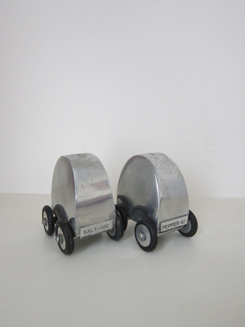 Novelty Auto Salz & Pfefferstreuer, 1960er, 2er...