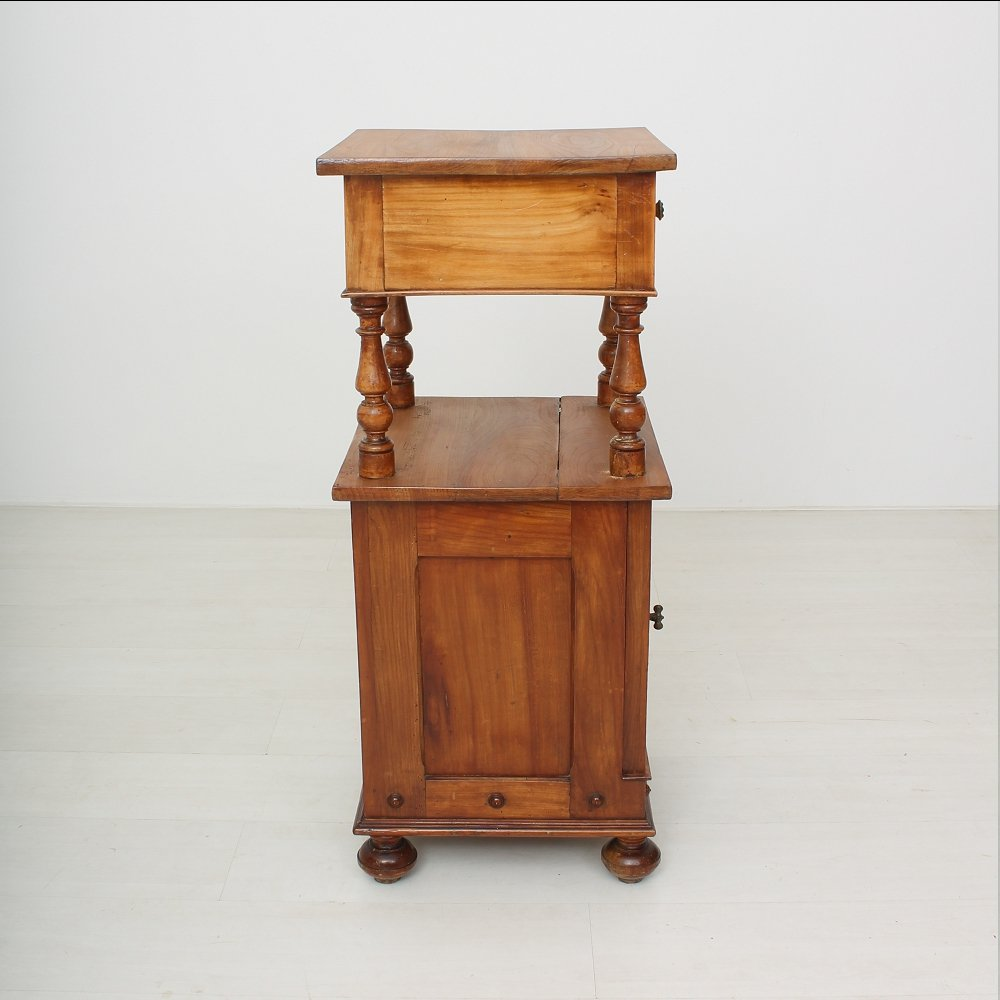 petite table de chevet antique en m risier 1890s en vente sur pamono. Black Bedroom Furniture Sets. Home Design Ideas
