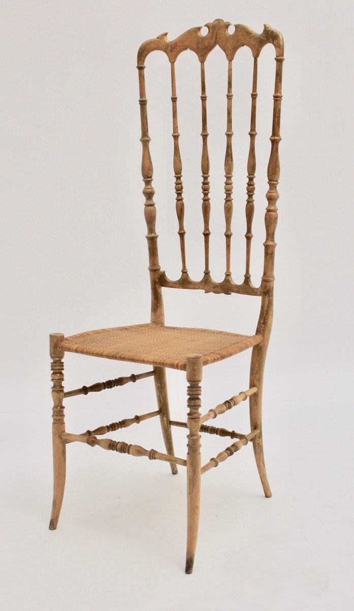 Sedia chiavari con schienale alto anni 39 40 in vendita su for Sedia design anni 40