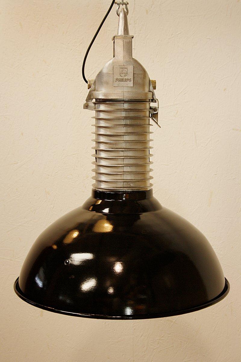 lampe suspension vintage industrielle de philips 1960s en vente sur pamono. Black Bedroom Furniture Sets. Home Design Ideas