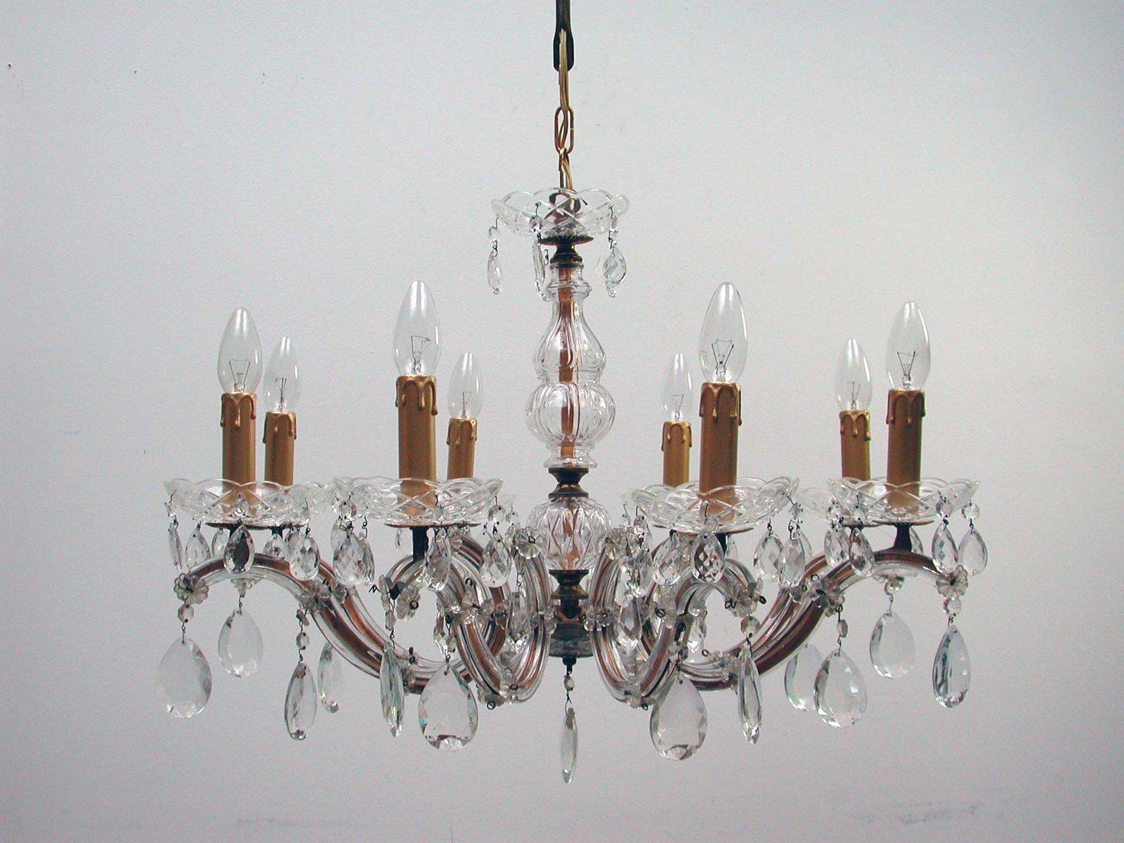 Kronleuchter Klein Kristall ~ Italienischer kronleuchter mit leuchten aus messing kristall