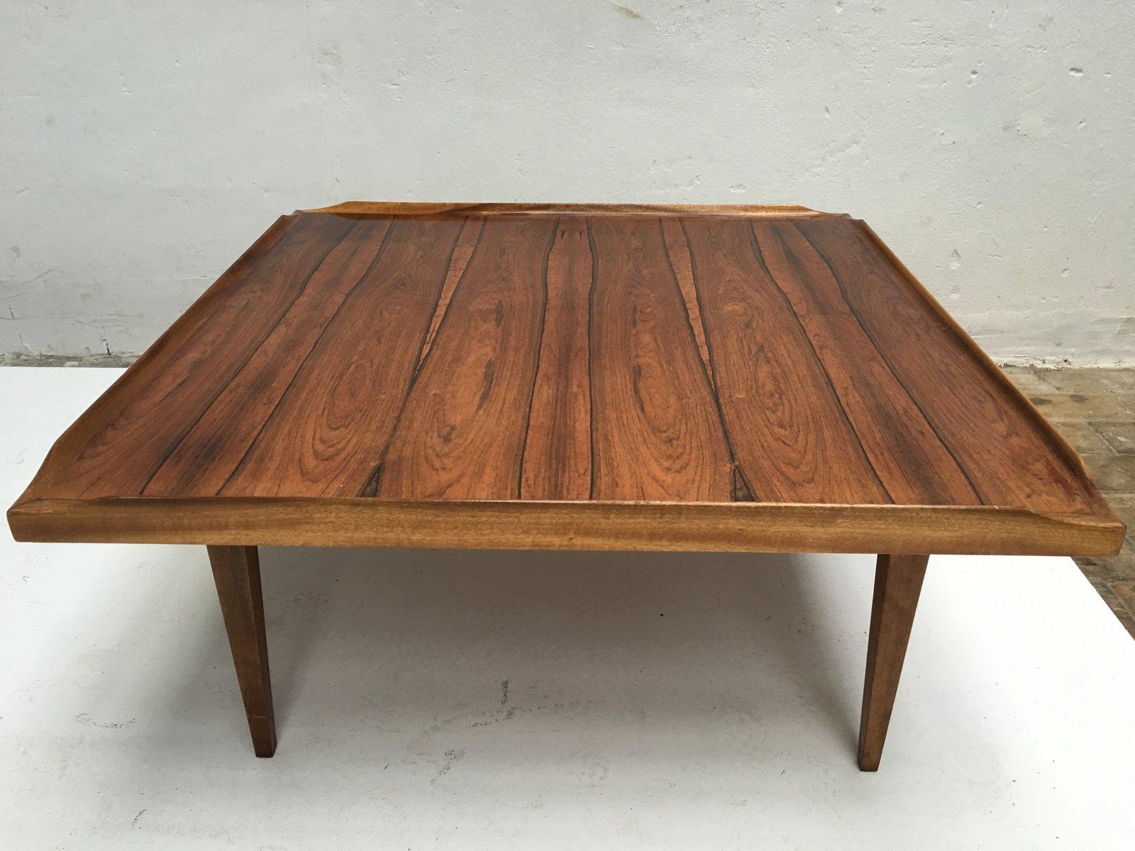 table basse carr e en palissandre danemark 1960s en vente sur pamono. Black Bedroom Furniture Sets. Home Design Ideas