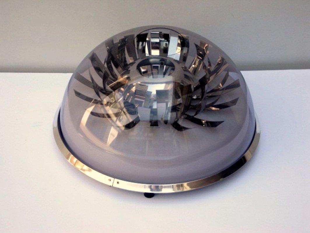 Tischlampe aus Methacrylat & Stahl