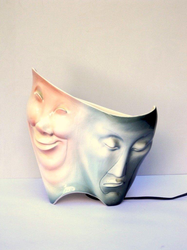 Plastische Tischlampe aus Keramik von Ariele