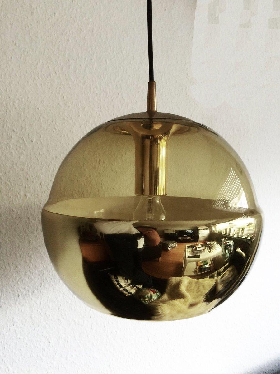 Hängelampe aus Spiegelglas von Peill & Putzler, 1970er