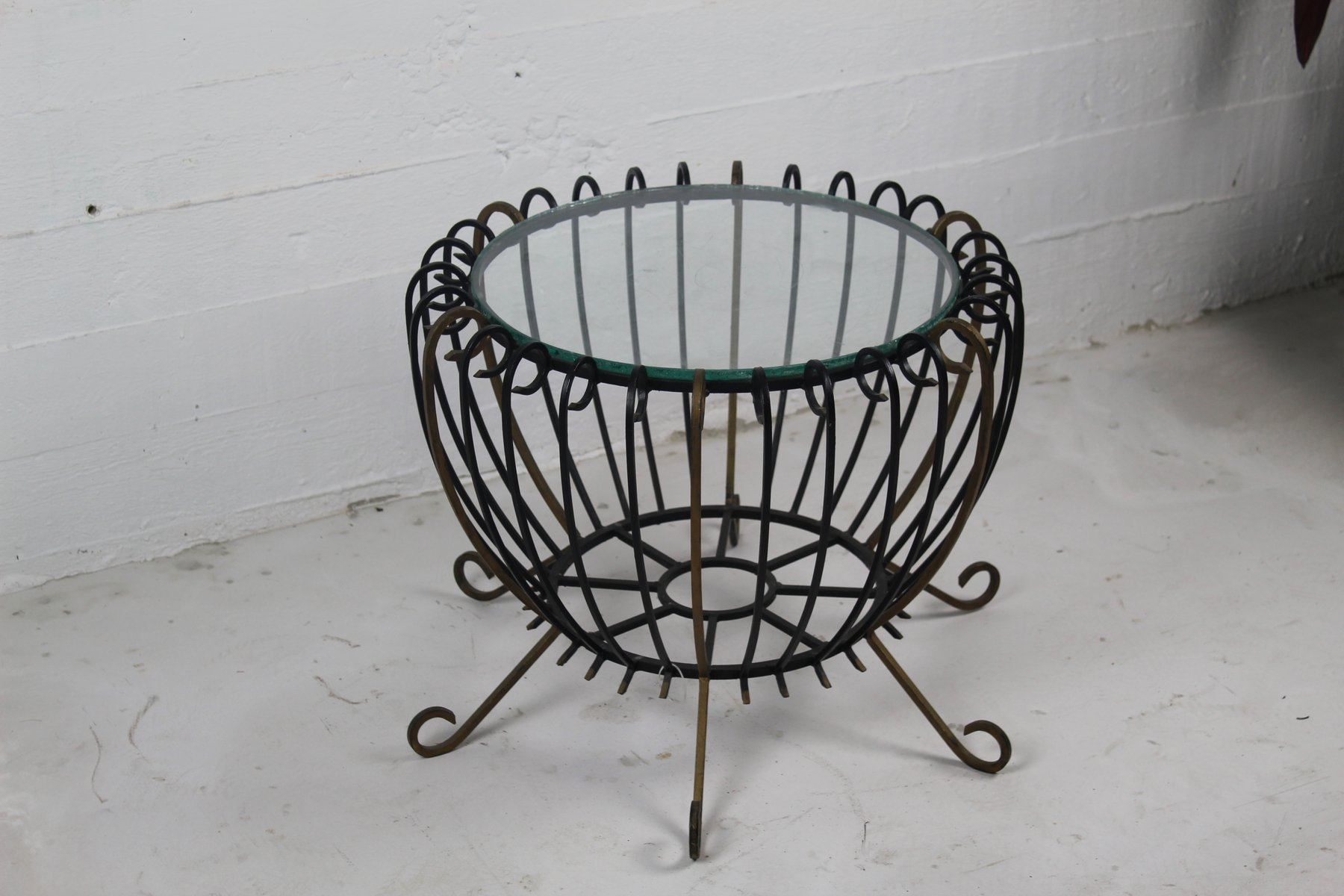 Vintage wrought iron coffee table 4 592 00 price per piece