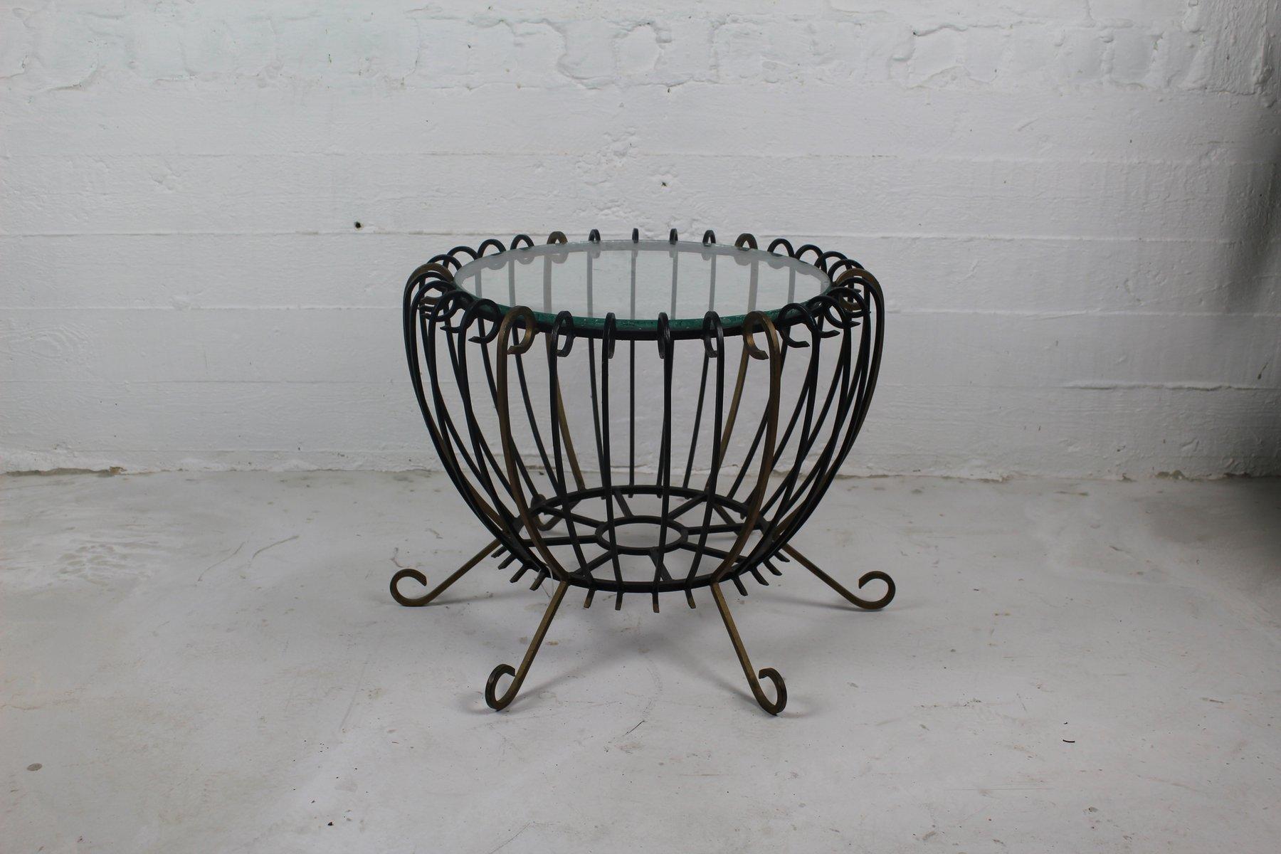 table basse vintage en fer forg en vente sur pamono. Black Bedroom Furniture Sets. Home Design Ideas