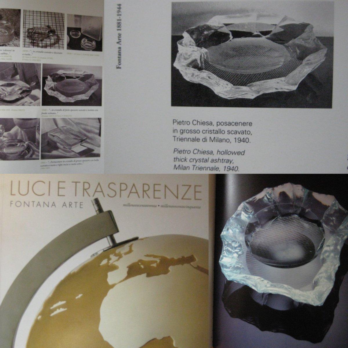 Scalpellato Schale von Pietro Chiesa für Fontana Arte, 1940 bei ...