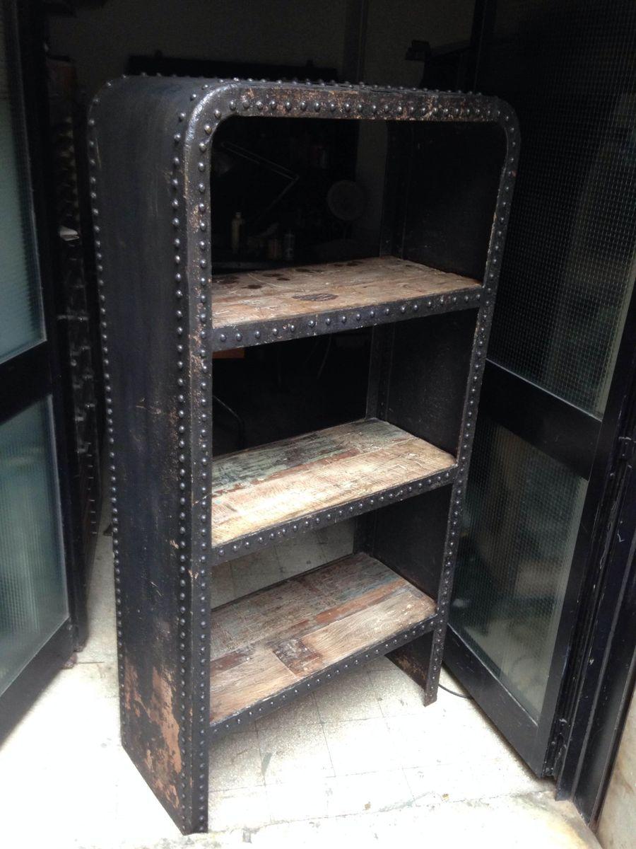 franz sisches industrieregal aus eisen bei pamono kaufen. Black Bedroom Furniture Sets. Home Design Ideas