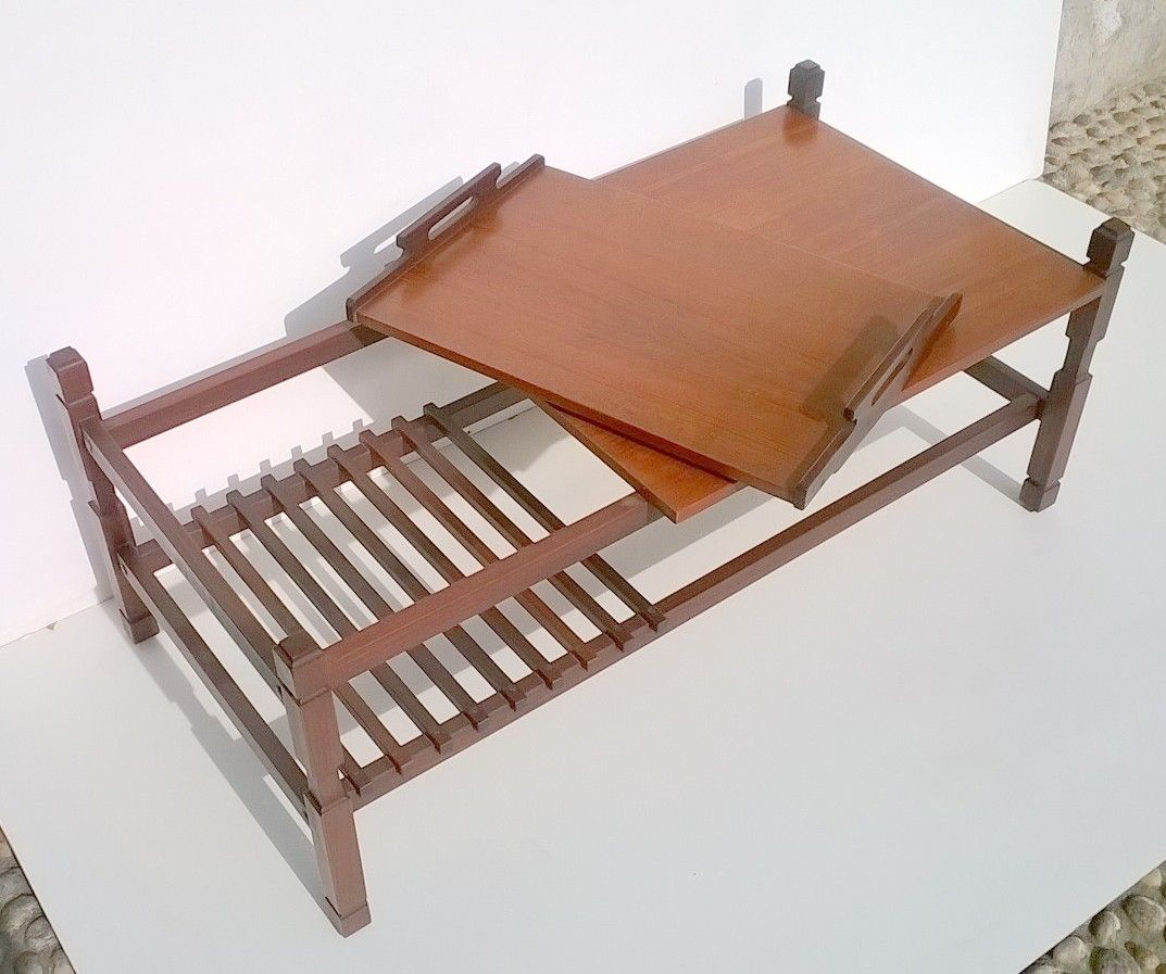 Tray Coffee Table Sale: Italian Teak Coffee Table With Removable Tray, 1950s For