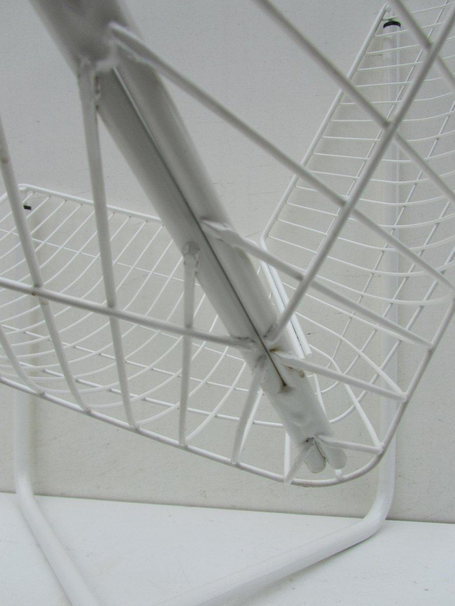 wei e jarpen drahtstuhl von niels gammelgaard f r ikea 1983 bei pamono kaufen. Black Bedroom Furniture Sets. Home Design Ideas