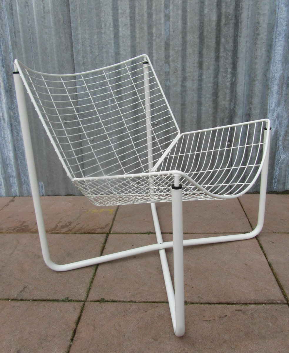 White jarpen wire chair by niels gammelgaard for ikea 1983 for sale at pamono - Sedia roberto ikea ...
