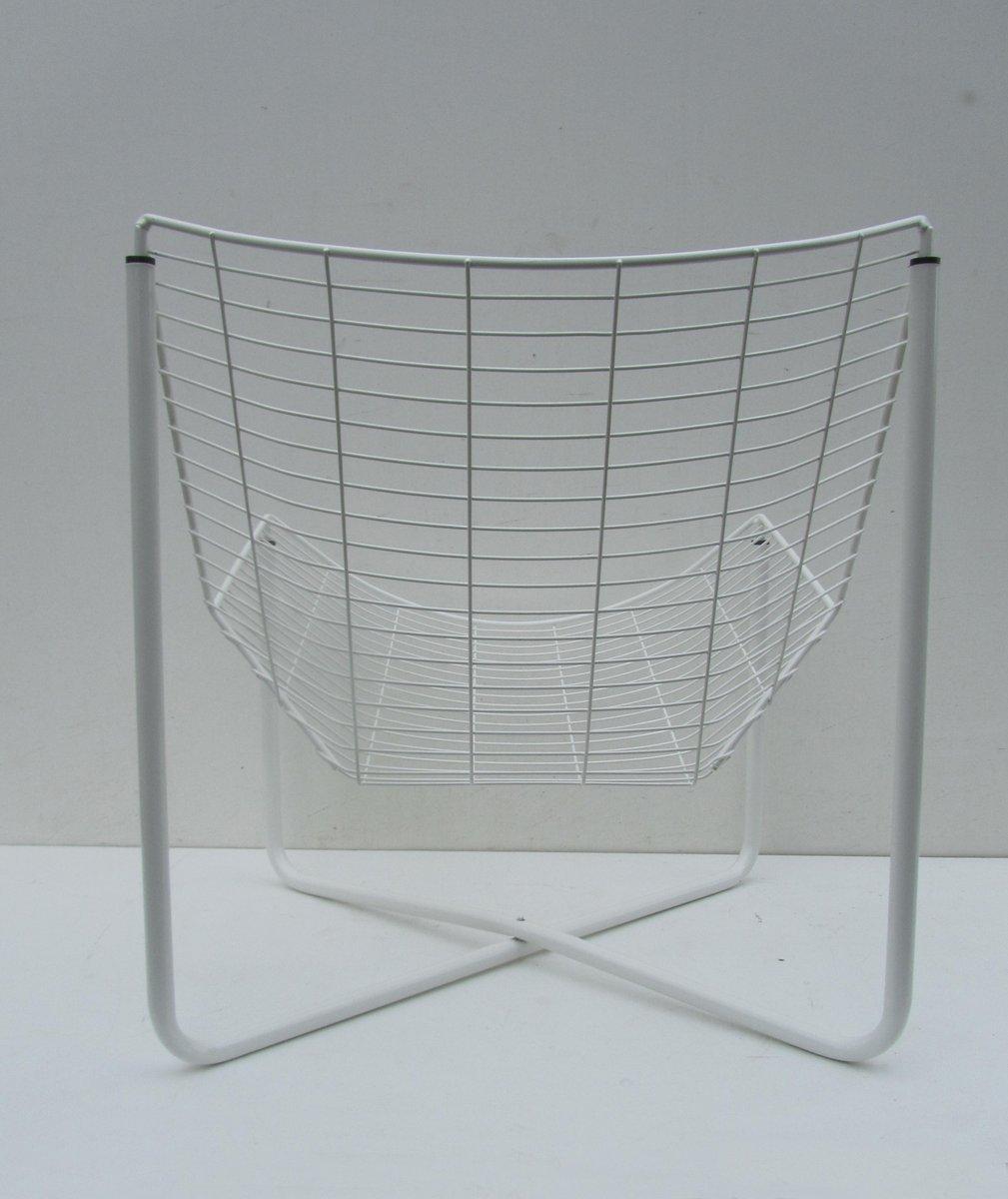 Sedia a rete jarpen bianca di niels gammelgaard per ikea for Ikea sedia a dondolo bianca